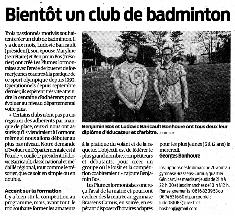 Article club Lormont